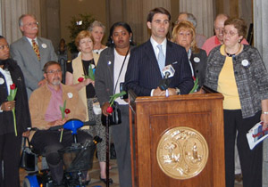 Photo of 2009 Parkinson's Proclamation Presentation Ceremony with Lt. Governor Bauer