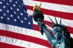 Photo of USA Flag and Statute of Liberty