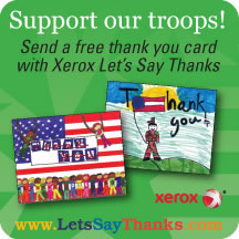 Xerox Remember Our Troops Postcard Project