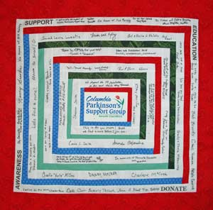 Photo of Completed CPSG quilt panel