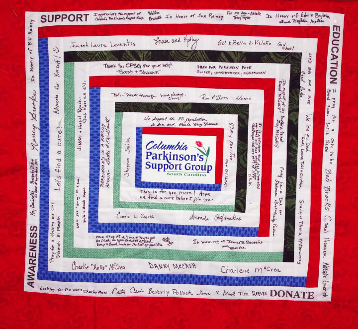 Columbia Parkinson's Support Group PDF Quilt
